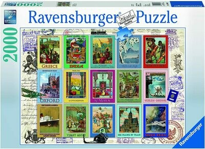 166022 Vacation Stamps 2000pc Puzzle