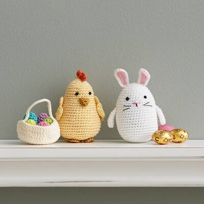Crocheted Easter Bunny & Chick - 92829