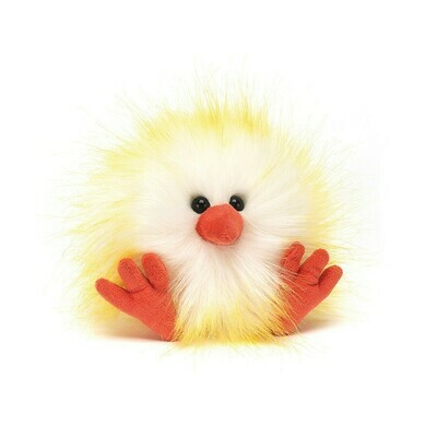 Yellow & White Crazy Chick Plush