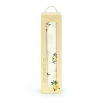 Amuseables Pineapple Muslin Swaddle