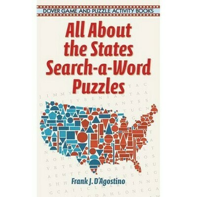 All About the States Search-a-Word Puzzles - D'Agostino - Paperback