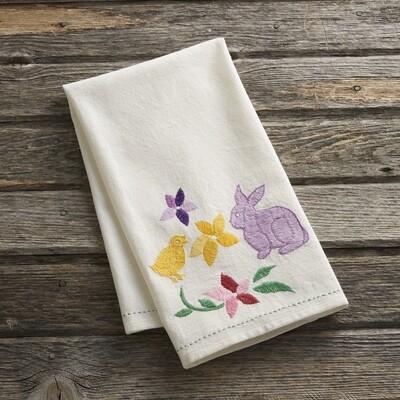 Embroidered Easter Tea Towel - 32376