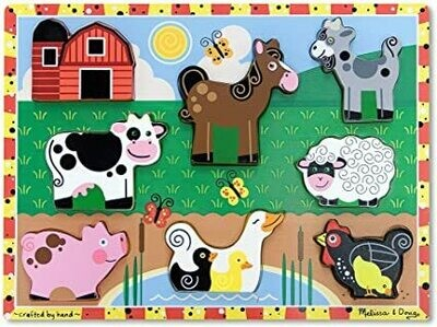Chunky Puzzle Farm Animals Melissa & Doug
