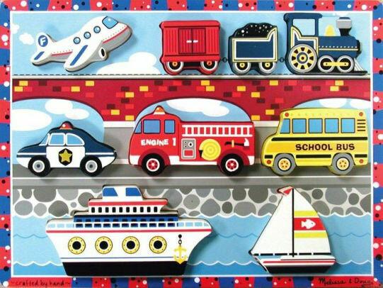 Chunky Puzzle Vehicles Chunky Puzzle Melissa & Doug