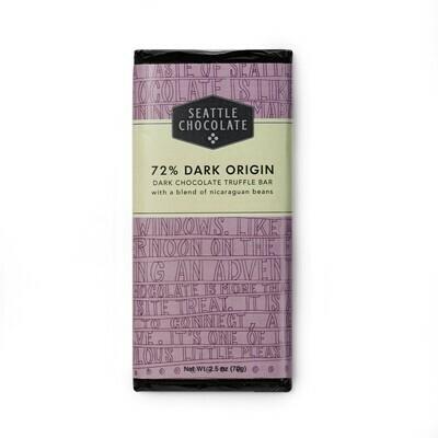 72% Dark Origin Seattle Chocolate Bar