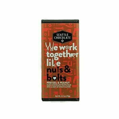 We Work Together Like Nuts & Bolts Seattle Chocolate Bar