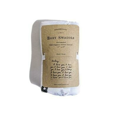 Letter For You Baby Swaddle Blanket - Sugarboo