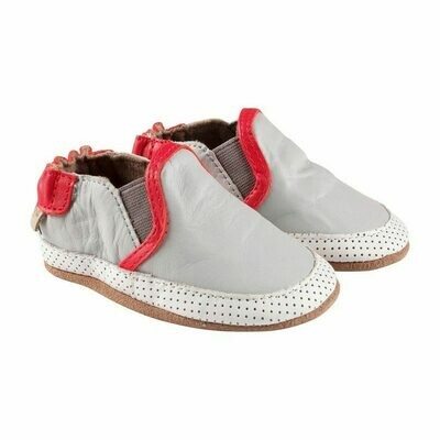 Robeez Basic Grey Liam 12-18mo Shoes