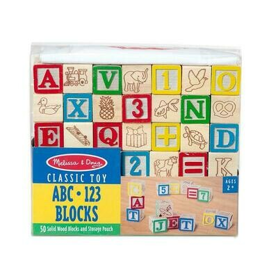 Classic Toy ABC 123 Blocks Melissa and Doug