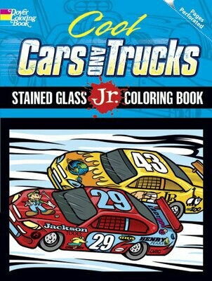 Cool Cars and Trucks - Stained Glass Jr. Coloring Book
