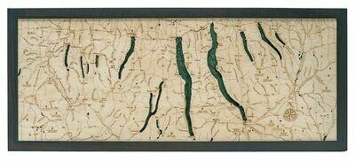 Wood Chart Finger Lakes 3-D Nautical Wood Chart - 13.5