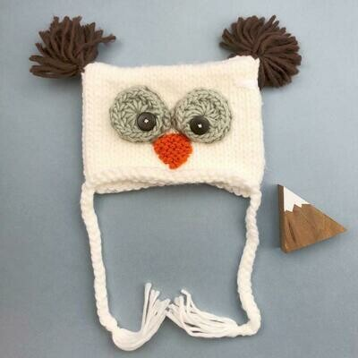 Blueberry Hill White Owl Hat