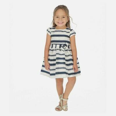 Mayoral 3926 Navy Striped Dress