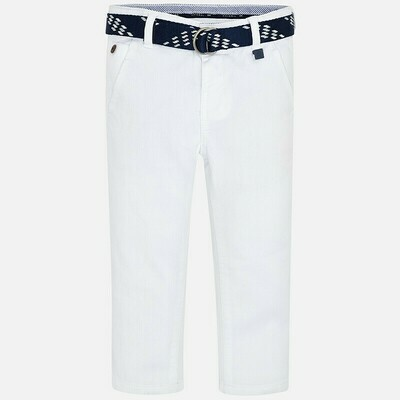 Mayoral White Pant with Belt