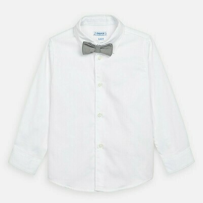 Mayoral White Shirt with Bow Tie