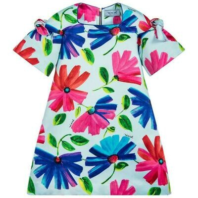 Mimisol Blue Flower Dress
