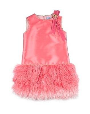Mimisol Fuchsia Feather Dress