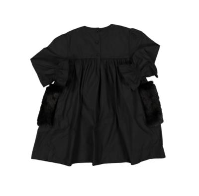 Carbon Soldier Pease Dress Black