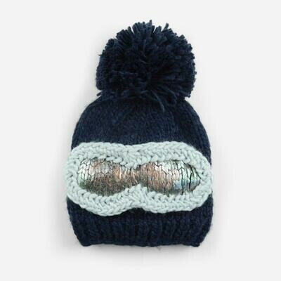 Blueberry Hill Navy Ski Hat