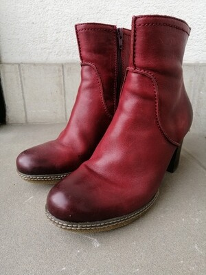 SECONDHAND Stiefelette, rot, Gabor