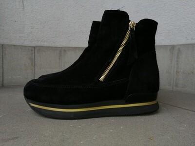 SECONDHAND; Boots, schwarz, Velour, HOGAN