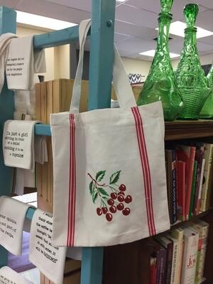 Cherry Tile Tote Bag