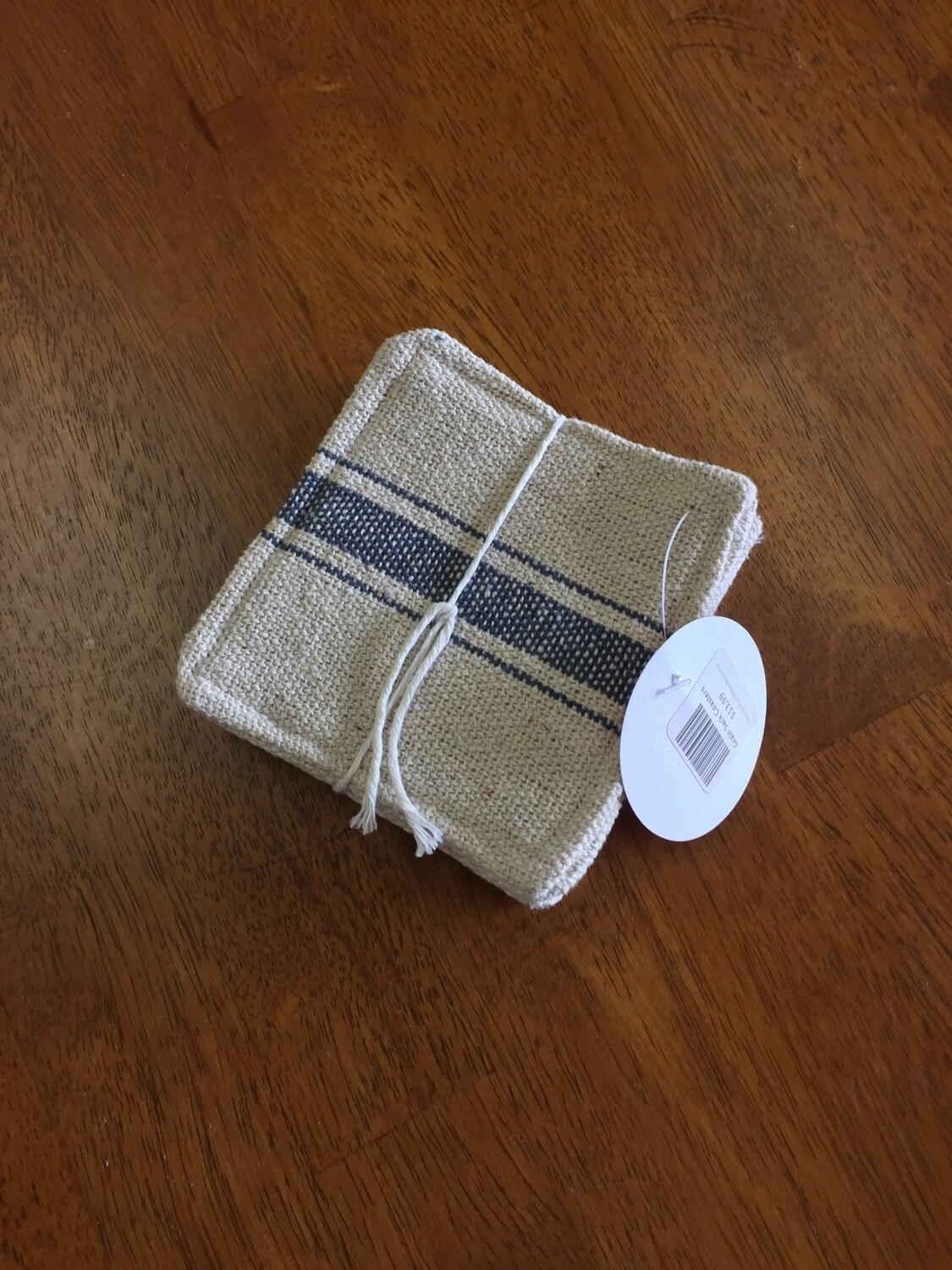 Grain Sack Coasters