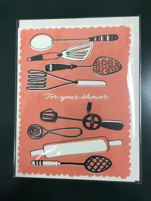Vintage Utensils Greeting Card