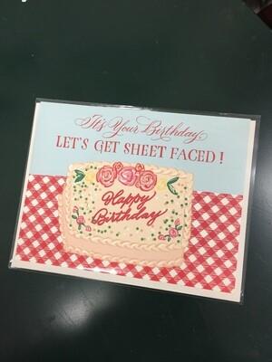 Sheet Faced Card