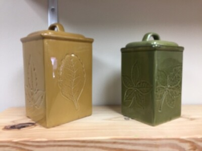 Canister set - yellow and green