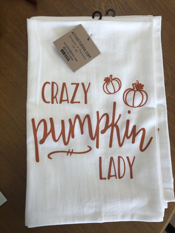 Crazy Pumpkin Lady Towel