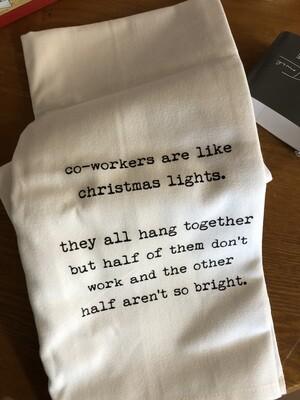 Co-Workers Christmas Tea Towel