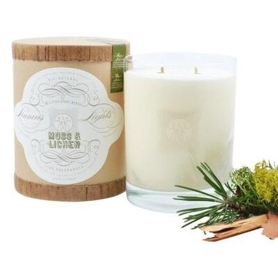 Linnea's Lights Moss + Lichen 2-Wick Candle