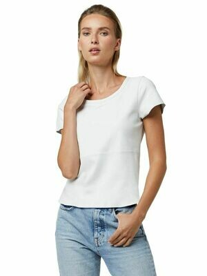 White Leather T-Shirt