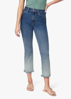 Ombre High-Rise Cropped Boot Cut Jean
