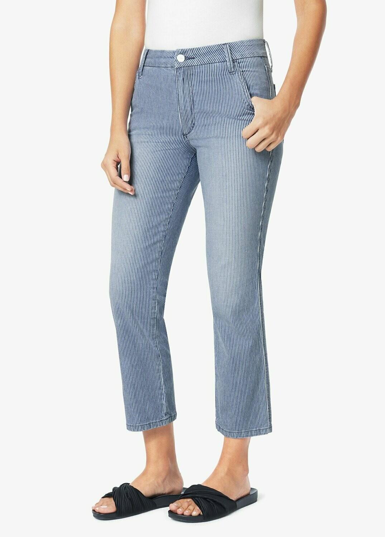 Striped Slim Kick Trouser Jeans