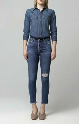 COH Dark Blue Mid-Rise Cropped Skinny Jean