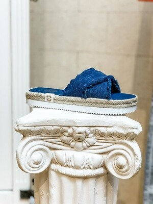 Flatform Denim Sandals
