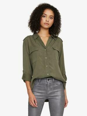 Army Green Long Sleeve Shirt