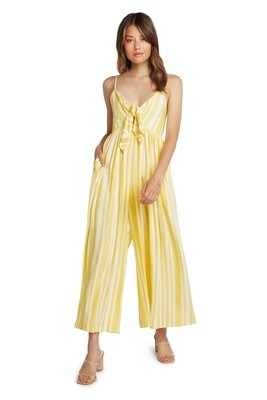 Yellow & White Striped Jumpsuit