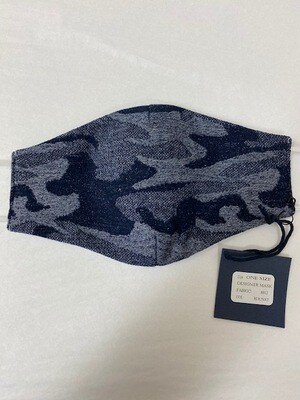 Navy Camouflage Cotton Face Mask