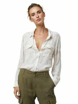 White Camouflage Admiral Blouse