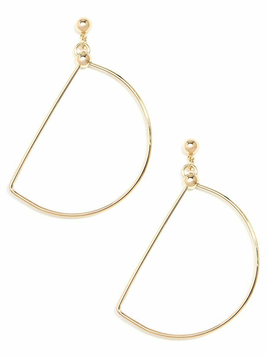 Gold Slice Silhouette Drop Earring