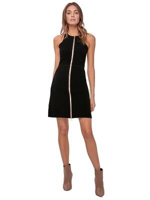 Black Zippered Bound Dress