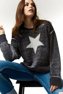 Black Star Power Crew Neck Sweater