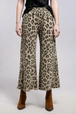 Leopard Print Wide Leg Sweatpant