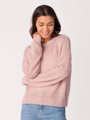 Rose Cashmere Mock Neck Sweater