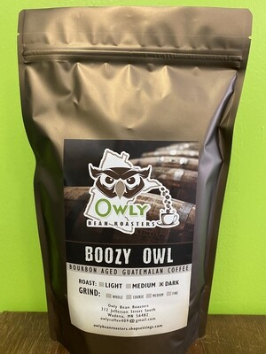 Bourbon Aged Dark Roast - Boozy Owl