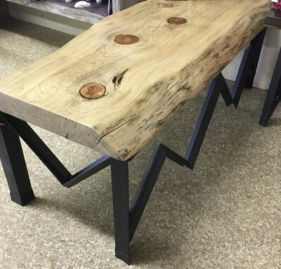 Blue Pine Live Edge Mountain Bench