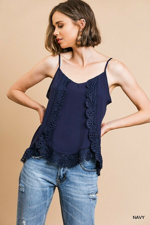A4893 Navy Cami Top